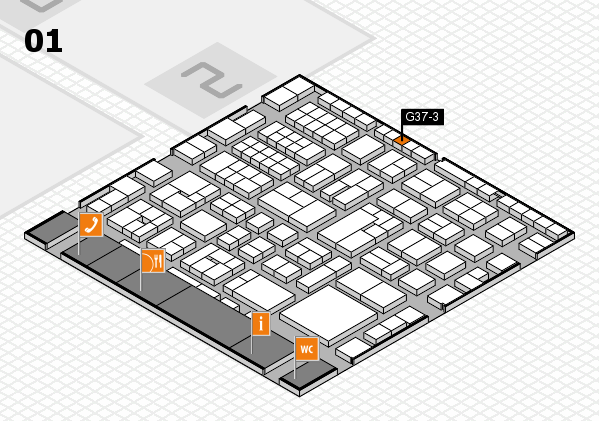 EuroShop 2017 hall map (Hall 1): stand G37-3
