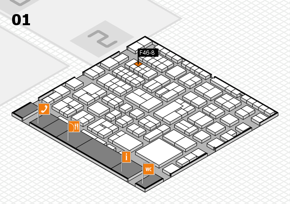 EuroShop 2017 hall map (Hall 1): stand F46-8