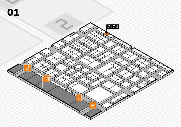 EuroShop 2017 hall map (Hall 1): stand G47-3