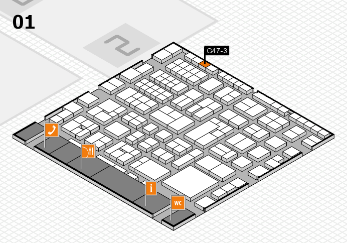 EuroShop 2017 hall map (Hall 1): stand G47-3