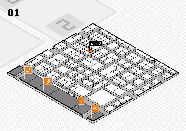 EuroShop 2017 hall map (Hall 1): stand E47-6