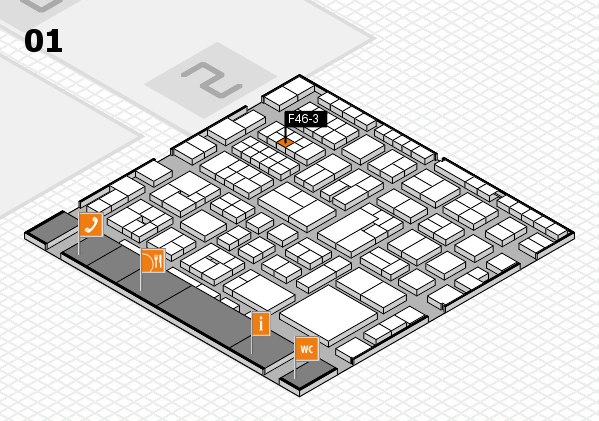 EuroShop 2017 hall map (Hall 1): stand F46-3