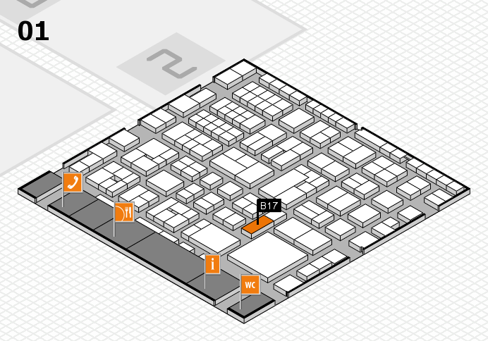 EuroShop 2017 hall map (Hall 1): stand B17
