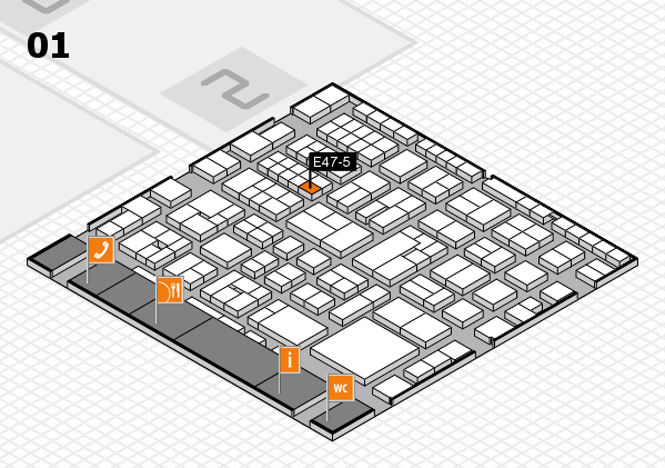 EuroShop 2017 hall map (Hall 1): stand E47-5