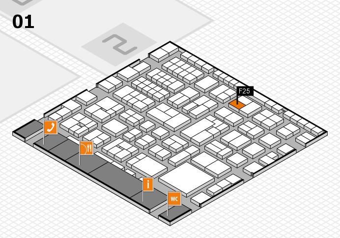 EuroShop 2017 hall map (Hall 1): stand F25