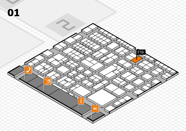 EuroShop 2017 hall map (Hall 1): stand F19