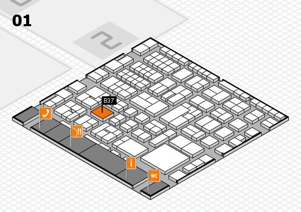 EuroShop 2017 hall map (Hall 1): stand B37