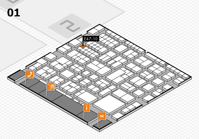 EuroShop 2017 hall map (Hall 1): stand E47-10