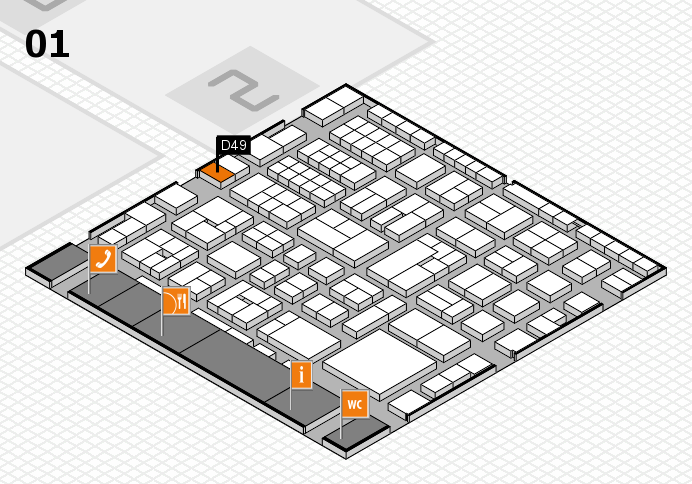 EuroShop 2017 hall map (Hall 1): stand D49