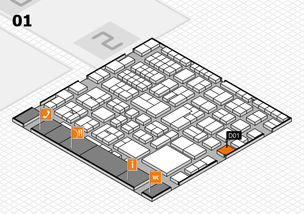 EuroShop 2017 hall map (Hall 1): stand D01