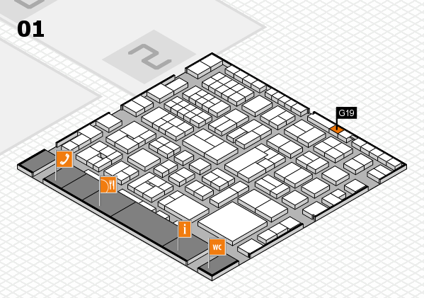 EuroShop 2017 hall map (Hall 1): stand G19