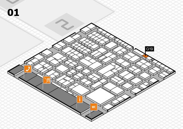 EuroShop 2017 hall map (Hall 1): stand G19