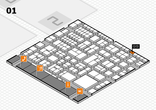 EuroShop 2017 hall map (Hall 1): stand G13