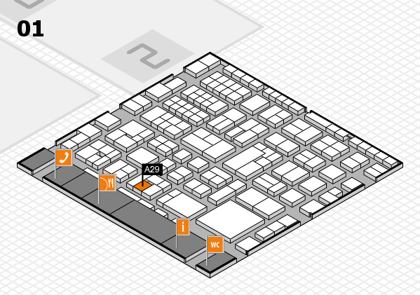 EuroShop 2017 hall map (Hall 1): stand A29