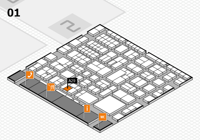 EuroShop 2017 hall map (Hall 1): stand A29
