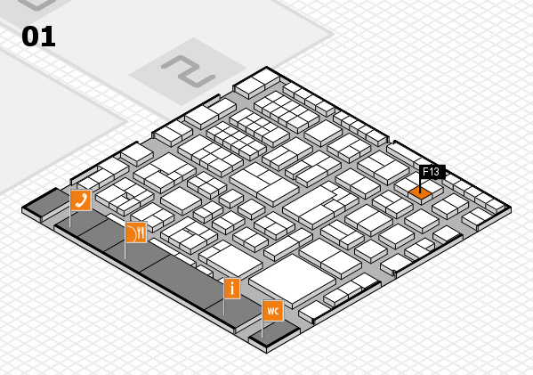 EuroShop 2017 hall map (Hall 1): stand F13