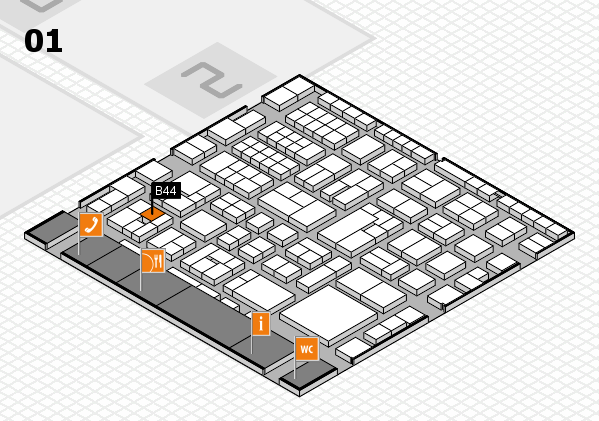 EuroShop 2017 hall map (Hall 1): stand B44