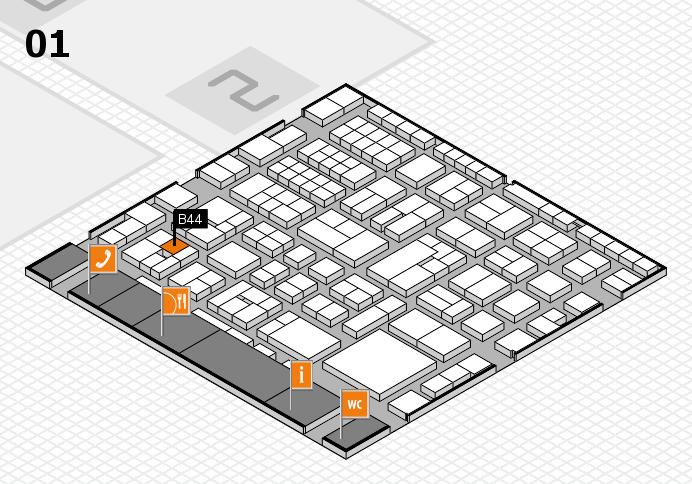EuroShop 2017 hall map (Hall 1): stand B44