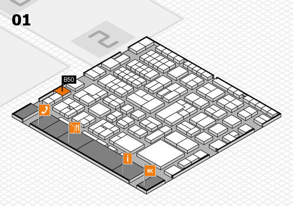 EuroShop 2017 hall map (Hall 1): stand B50