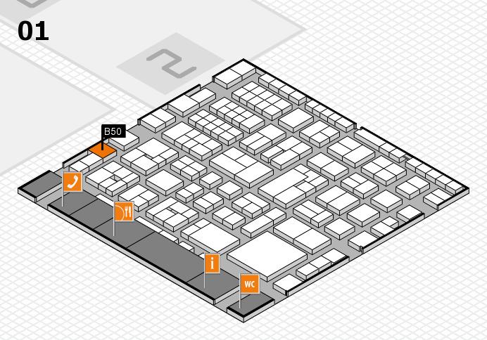 EuroShop 2017 hall map (Hall 1): stand B50