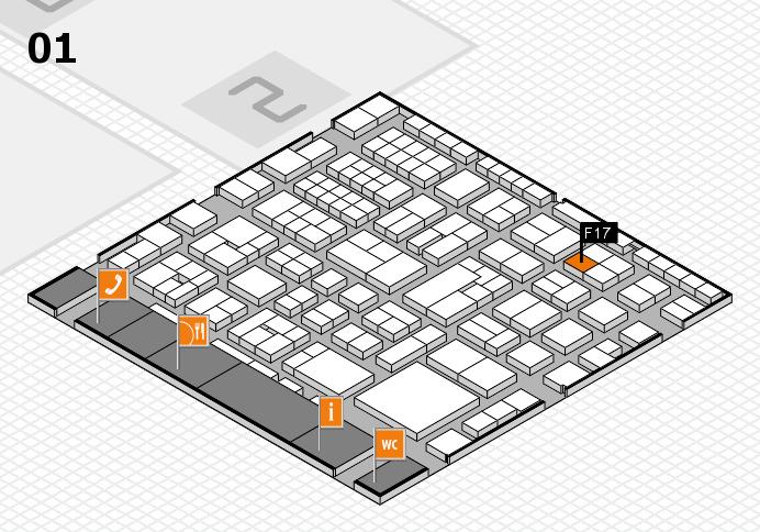 EuroShop 2017 hall map (Hall 1): stand F17