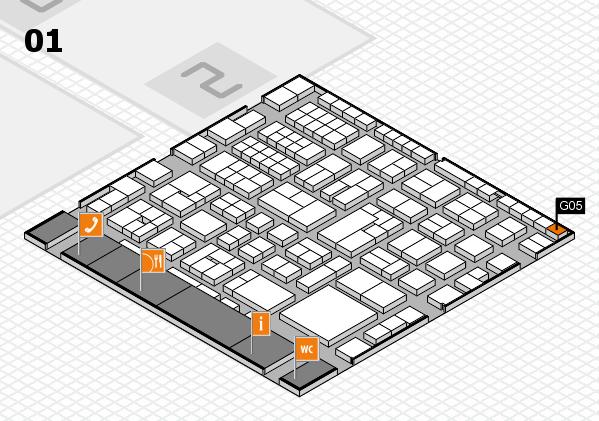 EuroShop 2017 hall map (Hall 1): stand G05