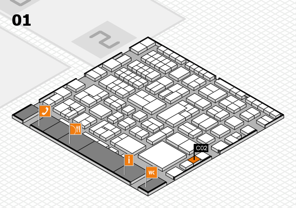 EuroShop 2017 hall map (Hall 1): stand C02