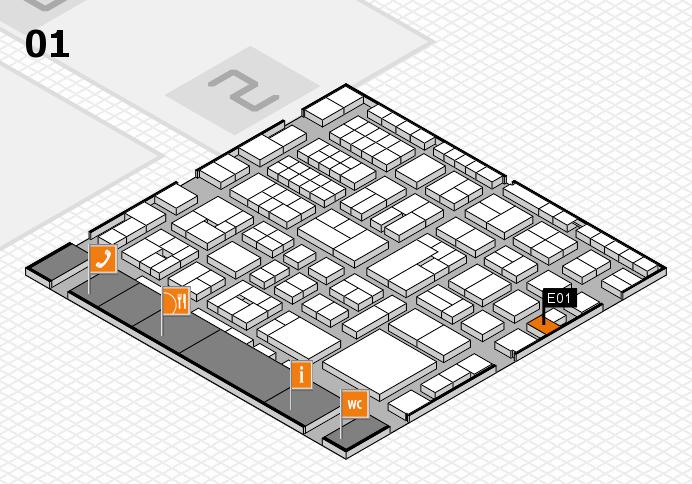 EuroShop 2017 hall map (Hall 1): stand E01