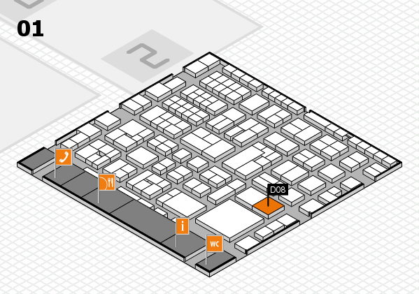EuroShop 2017 hall map (Hall 1): stand D08