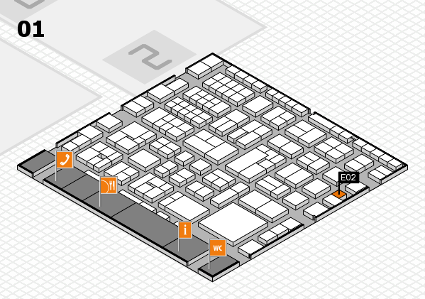 EuroShop 2017 hall map (Hall 1): stand E02