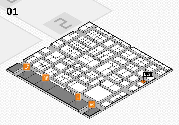 EuroShop 2017 hall map (Hall 1): stand E02