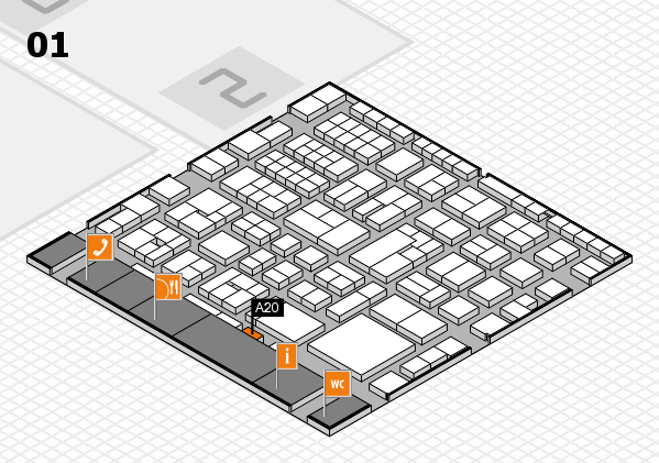 EuroShop 2017 hall map (Hall 1): stand A20