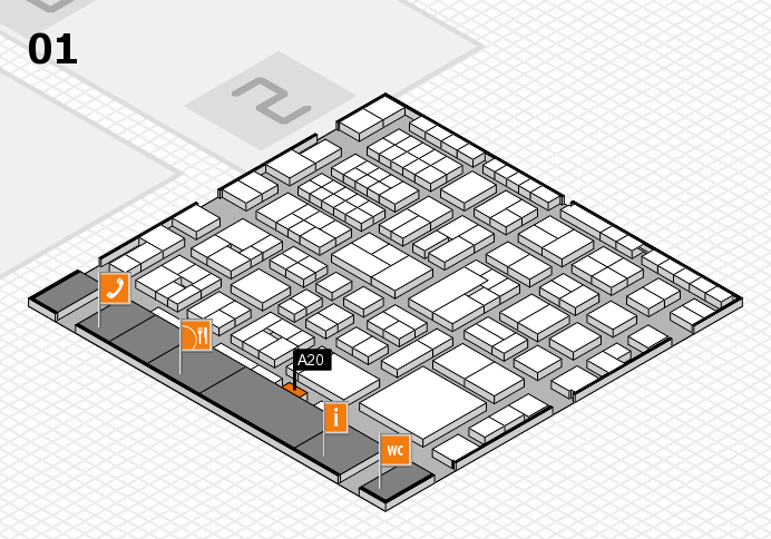 EuroShop 2017 hall map (Hall 1): stand A20