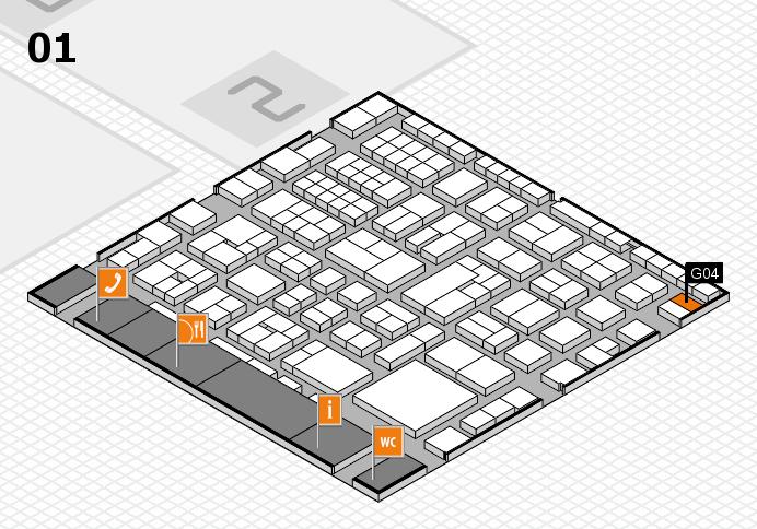 EuroShop 2017 hall map (Hall 1): stand G04