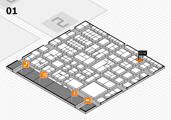 EuroShop 2017 hall map (Hall 1): stand G14