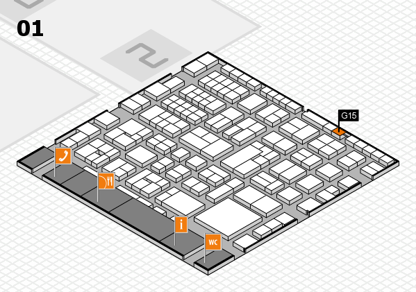 EuroShop 2017 hall map (Hall 1): stand G15