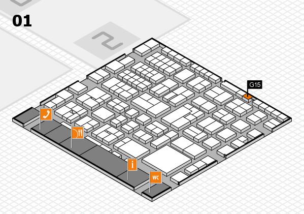 EuroShop 2017 hall map (Hall 1): stand G15