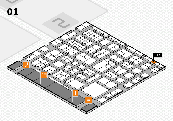 EuroShop 2017 hall map (Hall 1): stand G09