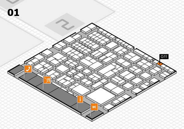 EuroShop 2017 hall map (Hall 1): stand G11
