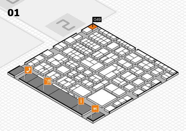 EuroShop 2017 hall map (Hall 1): stand G49