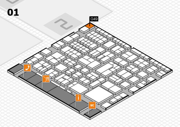 EuroShop 2017 hall map (Hall 1): stand G49