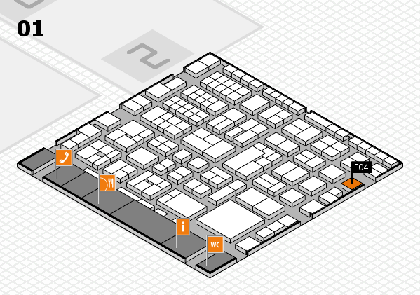 EuroShop 2017 hall map (Hall 1): stand F04