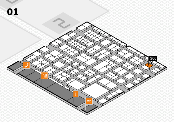 EuroShop 2017 hall map (Hall 1): stand G06