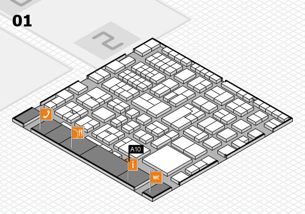 EuroShop 2017 hall map (Hall 1): stand A10