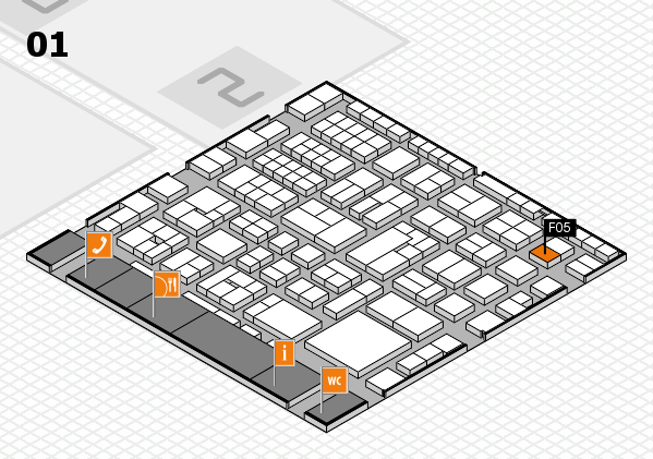 EuroShop 2017 hall map (Hall 1): stand F05