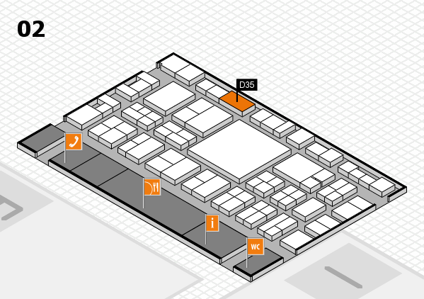 EuroShop 2017 hall map (Hall 2): stand D35