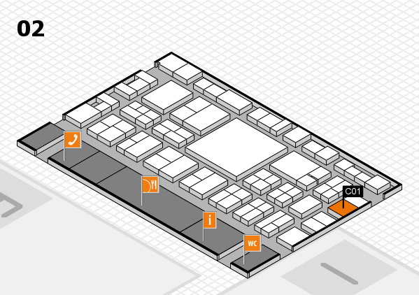 EuroShop 2017 hall map (Hall 2): stand C01