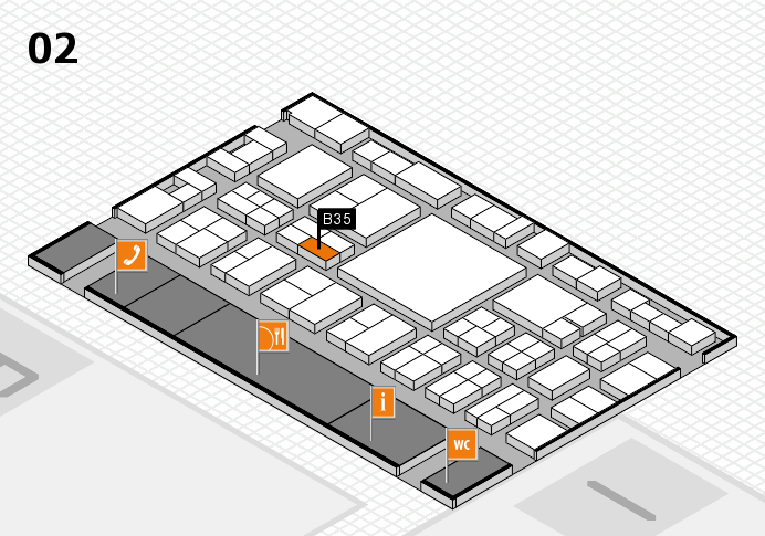 EuroShop 2017 hall map (Hall 2): stand B35