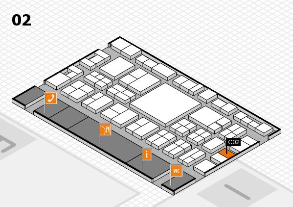 EuroShop 2017 hall map (Hall 2): stand C02
