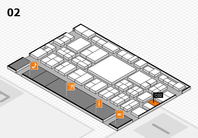 EuroShop 2017 hall map (Hall 2): stand C02